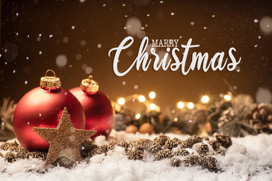 Weihnachten - Merry Christmas - Hintergrund