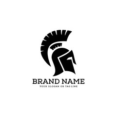 creative logo design concept warrior vector template