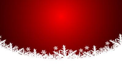 Vektor - Weihnachtlicher Hintergrund - Rot - Schnee - Textfreiraum