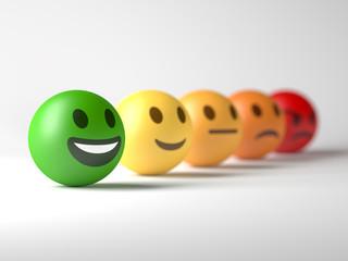 Smiley face selected. Positive feedback.