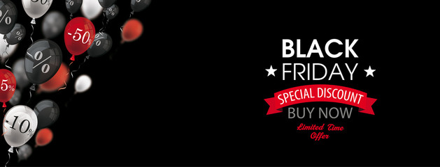 Black Friday Balloons Percents Header