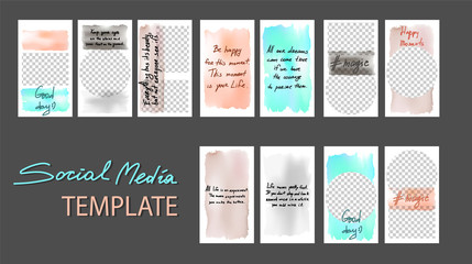 Set of stories for sale. Banner background, template photo. Can use for website, mobile app, poster, flyer, coupon, gift card, smartphone template, web design