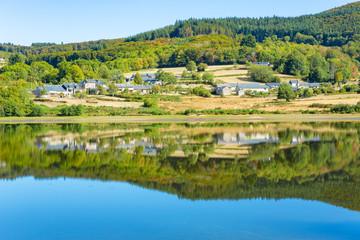 Scenic lake in Burgundy, France