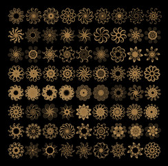 Aluminium Prints Spiral Set decorazioni circolari