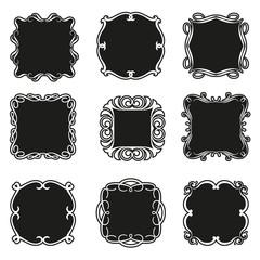 Set of decorative patterns for design frameworks and banners