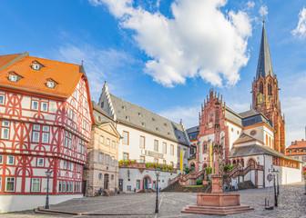 Foto auf Leinwand Altes Gebaude Aschaffenburg