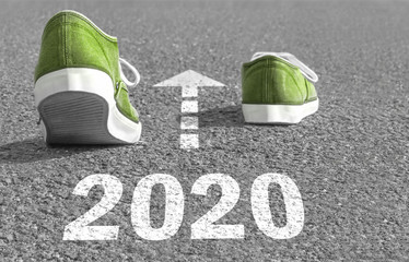 the green way to 2020! Wall mural
