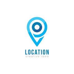 Creative Location Concept Logo Design Template