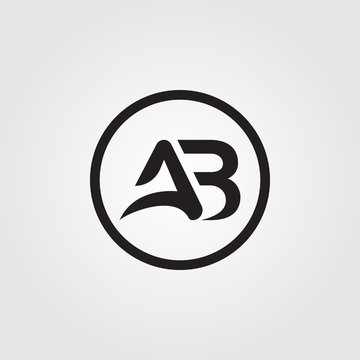Initial AB letter Logo. simple AB Logo vector Template. Abstract ab logo. ab logo template.