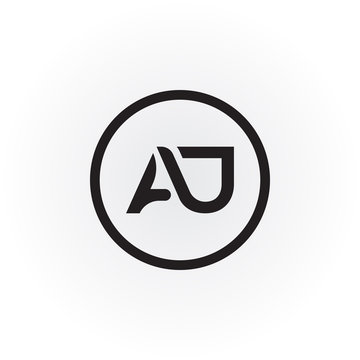 Initial letter AJ simple logo Vector template. Simple AJ Letter logo design. AJ font type logo.