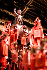 Prayers and offerings in an ancient Buddhist temple -- Chongqing,China