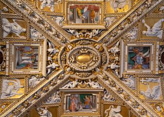 The Cappella Colleoni. Beautiful building in Bergamo. Italian Renaissance. Wonderful marble artwork from baroque artists. Catholic art. Church paintings