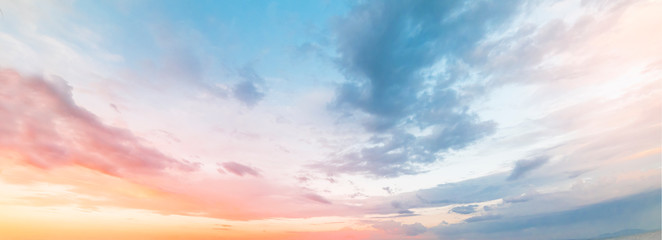 Beautiful sunset sky. Nature sky backgrounds.	 Fotobehang