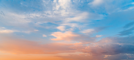 Beautiful sunset sky. Nature sky backgrounds.	 Fototapete