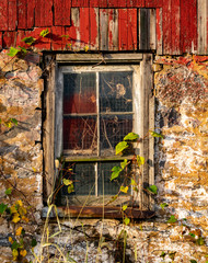 Old window on abandoned barn in the Lehigh Valley Pennsylvania