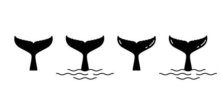 shark tail dolphin whale vector logo icon cartoon character ocean sea symbol illustration design