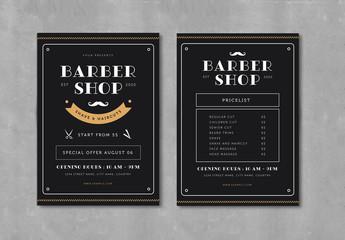 Barber Shop Flyer Layout