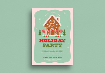 Holiday Party Invitation Flyer Layout