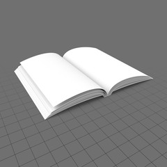Open softcover book