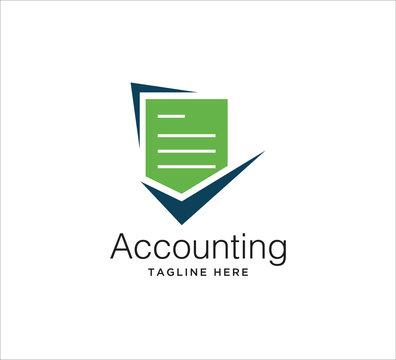 accounting financial logo design concept