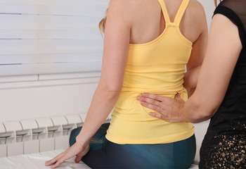 Chiropractic Back Adjustment / Physiotherapy . Posture Correction, Scoliosis examination .