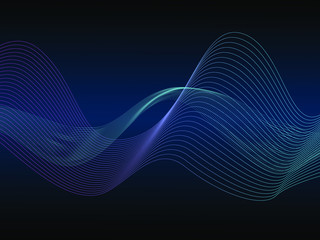Poster Abstract wave EPS 10 vector. Futuristic colorful background. Backdrop with lines and waves.