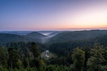 Fototapete - Ellbachseeblick Sonnenaufgang