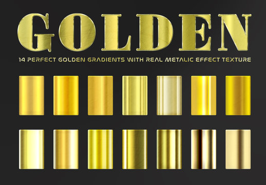 Golden Gradient Text Effects