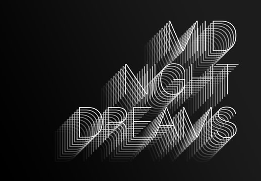 Layered Text Effect
