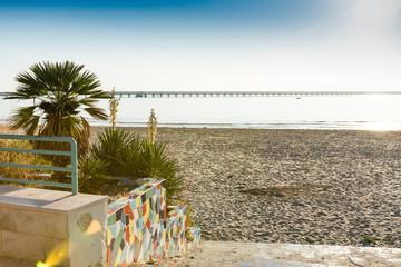 The beach of Manfredonia, Italy. Adriatic Sea.