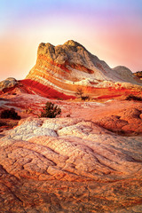 Wall Murals Orange Glow Colorful scenic landscape in the Utah desert, USA.