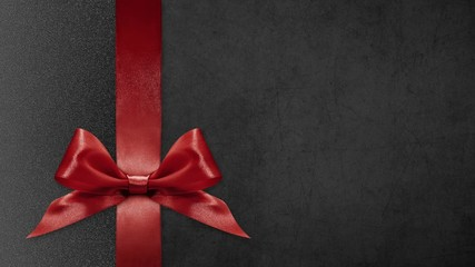 Fotomurales - black friday gift card, ribbon bows change colors isolated on black  background template with copy space