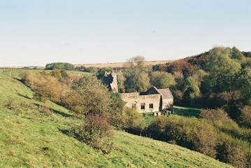 The abandoned medieval village of Wharram Percy, Yorkshire.