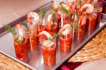 Individual Servings of Shrimp Cocktail