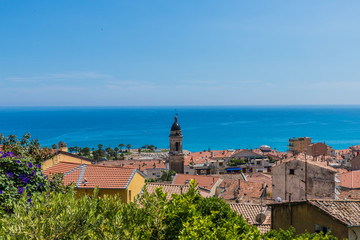 A view in Menton in France