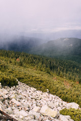 Authentic travel photography of the Giant Mountains, Poland.
