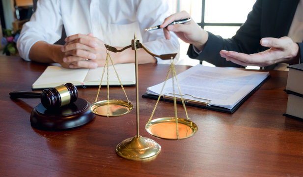 Lawyers give advice and recommend legal proposals. Check legal documents. Business Department of Legal Business Heritage