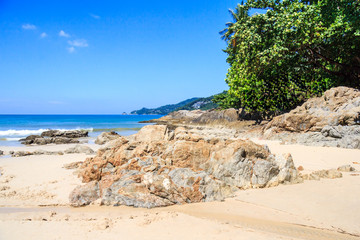 Patong beach on a sunny day