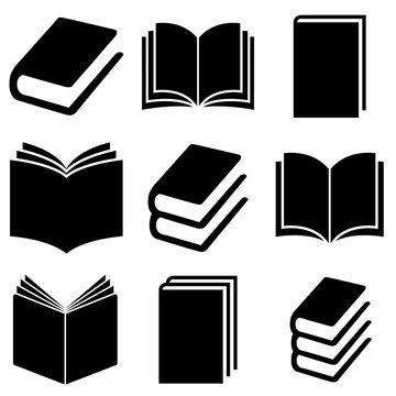 Book set icon, logo isolated on white background