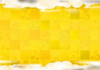 背景:市松模様 シンプル 金 ゴールド 雲 くも 曇り