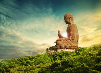 Foto op Plexiglas Boeddha buddha statue lantau island hong kong