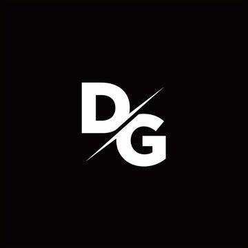 DG Logo Letter Monogram Slash with Modern logo designs template