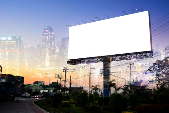 billboard blank for outdoor advertising poster or blank billboard for advertisement.