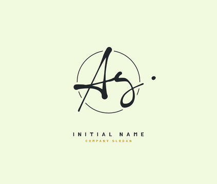 A G AG Beauty vector initial logo, handwriting logo of initial signature, wedding, fashion, jewerly, boutique, floral and botanical with creative template for any company or business.