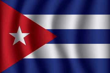 Flag of Cuba. Cuba Icon vector illustration eps10.