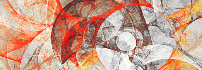 Abstract painting red and grey color texture. Bright background. Modern futuristic pattern. Fractal artwork for creative graphic design