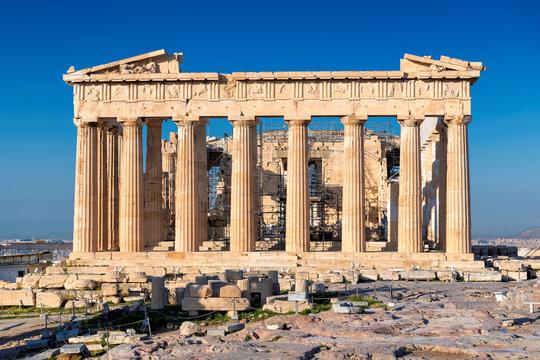 The Parthenon Temple in Acropolis of Athens, Greece.