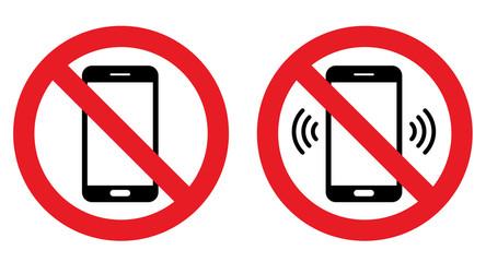スマートフォン 電話禁止マーク