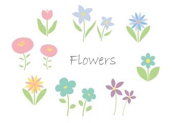 かわいい花のイラストセット
