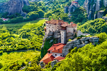 Monastery of Roussanou at Meteora in Greece Fotomurales